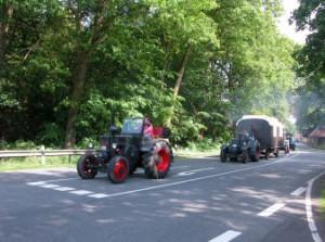 Oude tractoren in Kluse