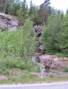 Waterval onderweg