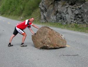 Steen op weg bij Oppdal