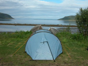 Tent op camping Olderfjord