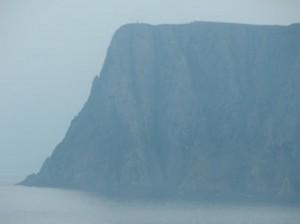 Noordkaap rots 308 meter hoog