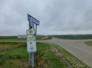 Route bordjes onderweg
