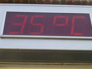 zo warm was het deze dag