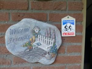 """warm welkom bij 'Vrienden op de fiets """""""