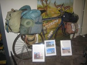 fiets van Wereld reiziger Frank van Rijn